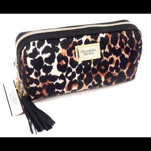 VICTORIA'S SECRET Leopard Makeup Bag With Charm